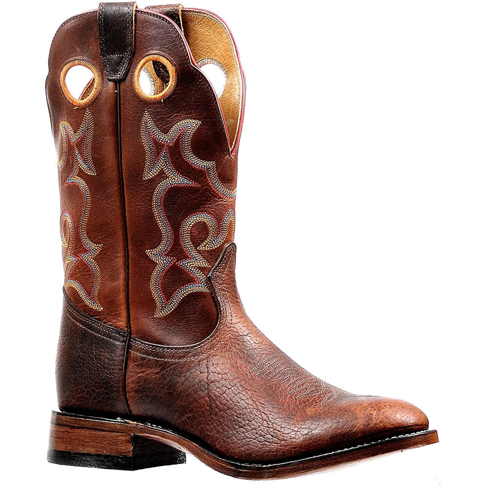 Image for Boulet Men's Cognac Shrunken Western Boots - Grizzly Sand from bootbay