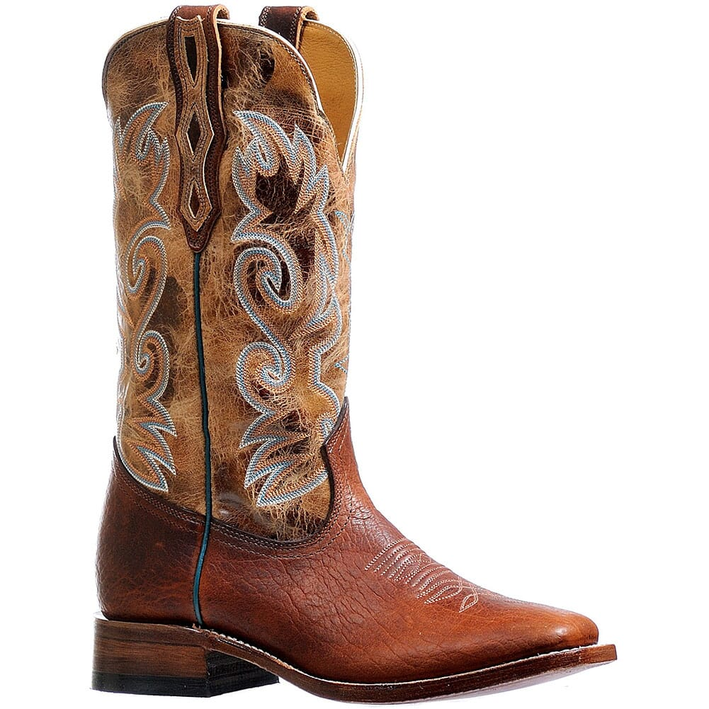 Image for Boulet Men's Wide Square Toe Western Boots - Dublin Taupe/Cognac from bootbay