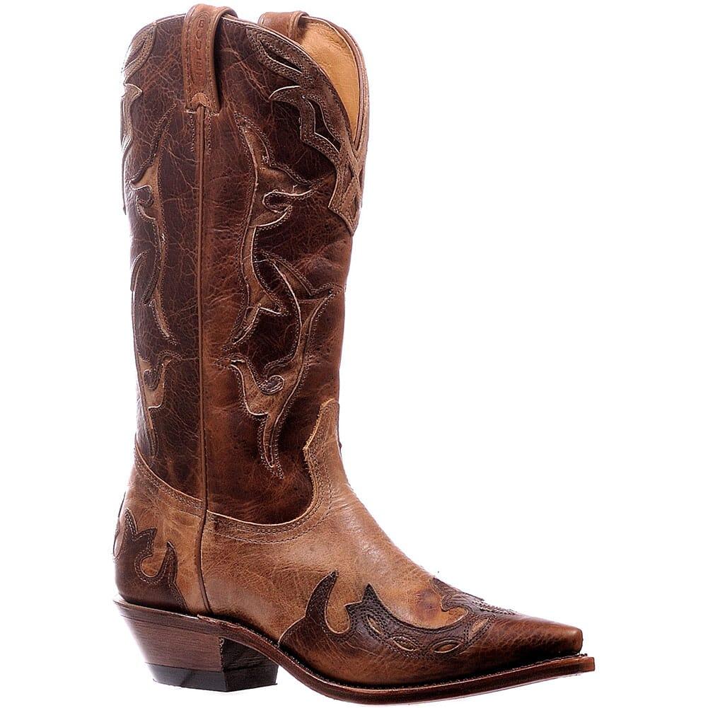 Image for Boulet Women's Snip Toe Western Boots - Damiana Moka/Dublin Taupe from bootbay