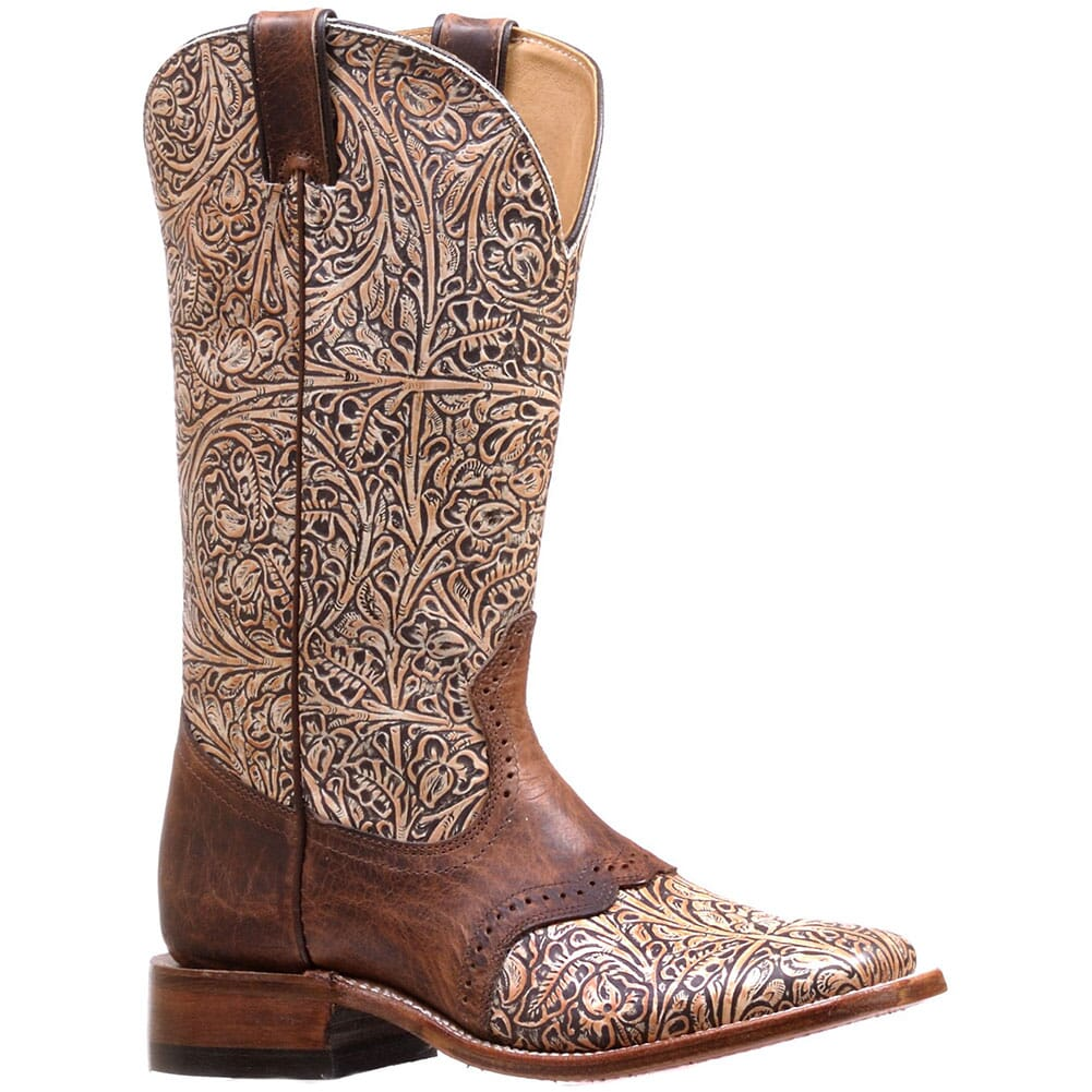 Image for Boulet Women's Wide Square Toe Western Boots - Bone Black/Diamana Moka from bootbay