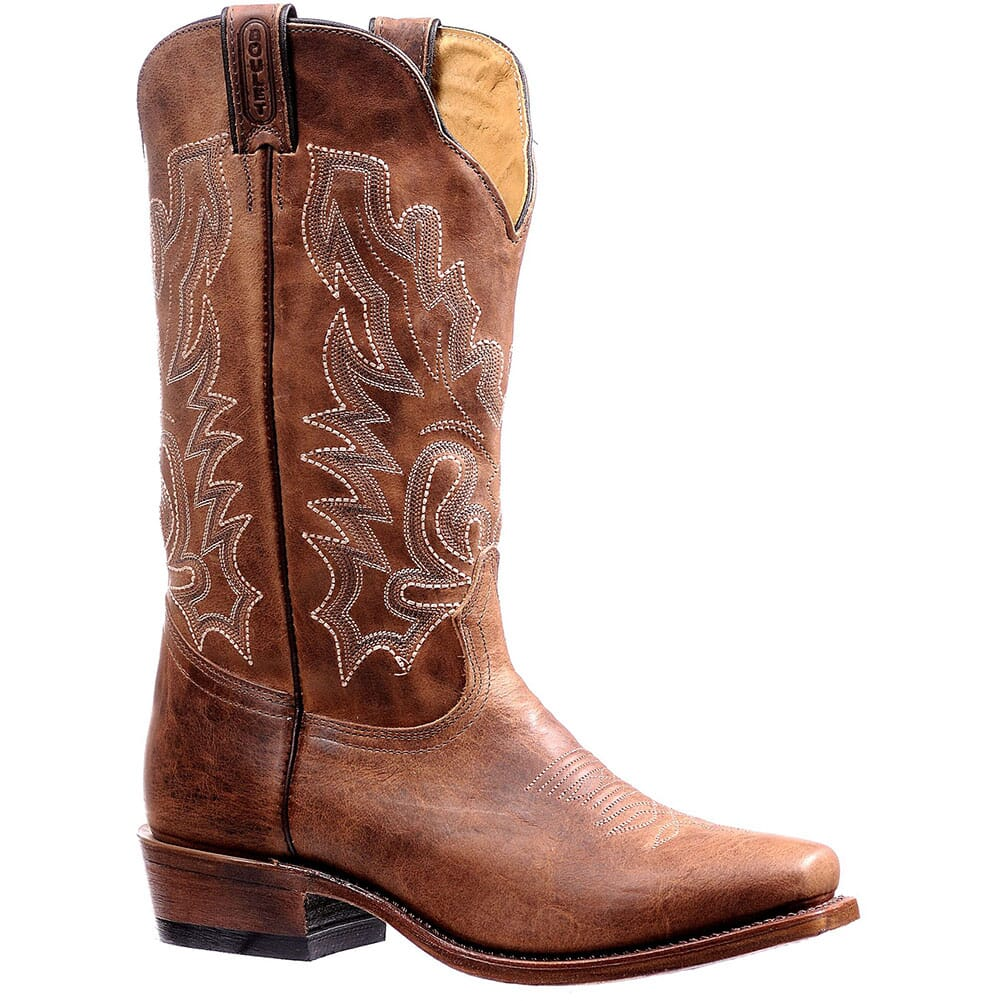 Image for Boulet Men's Bison Vintage Western Boots - Rust from bootbay