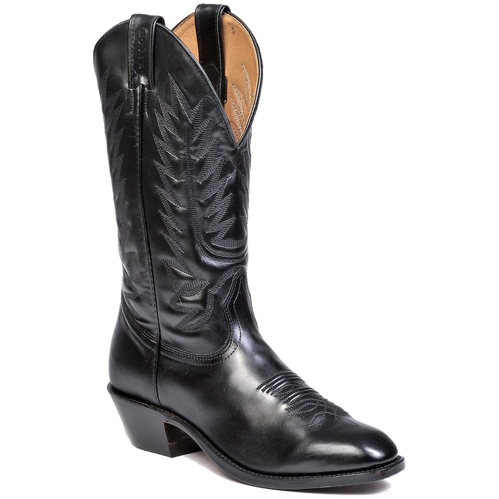 Image for Boulet Men's Torino Calf Cowboy Heel Western Boots - Black from bootbay