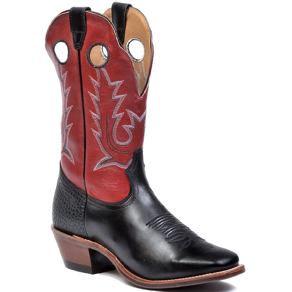 Image for Boulet Men's Rough Stock Western Boots - Deerlite Red/Torino Black from bootbay