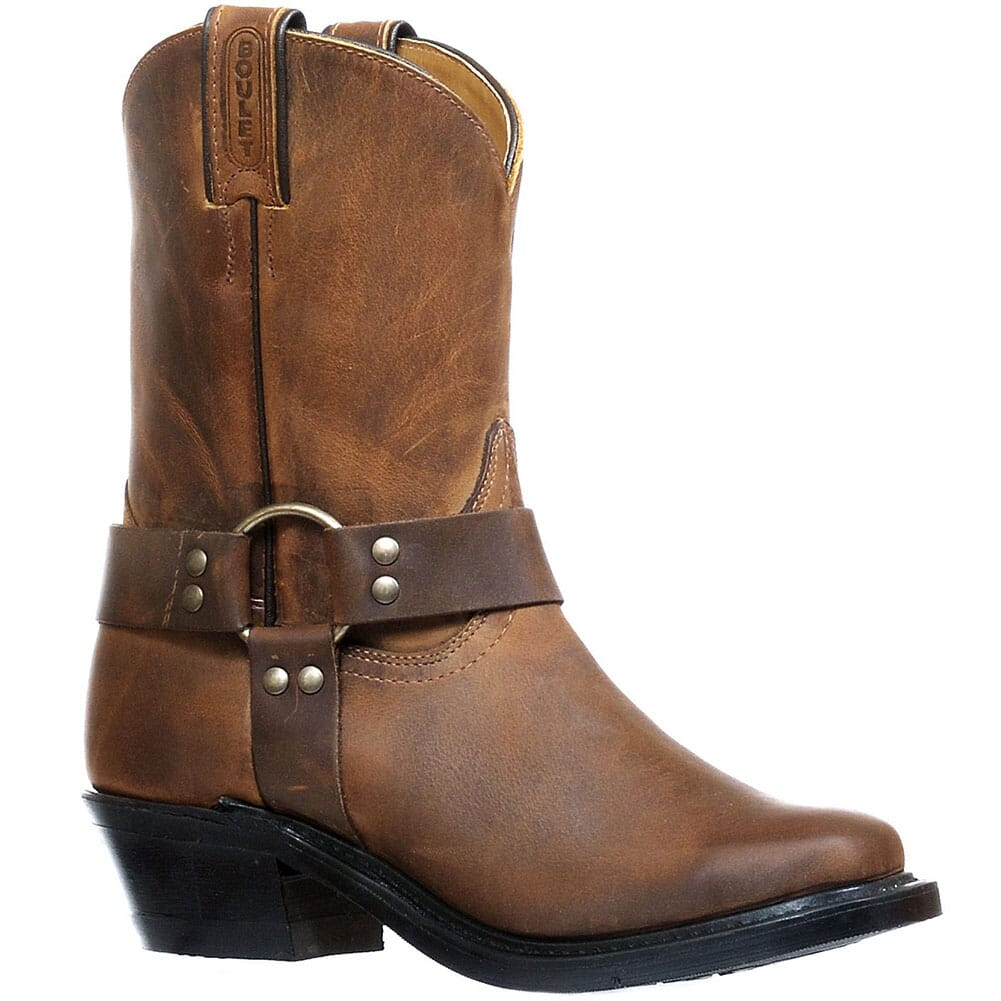 Image for Boulet Women's Engineer Leather Motorcycle Boots - HillBilly Golden from bootbay