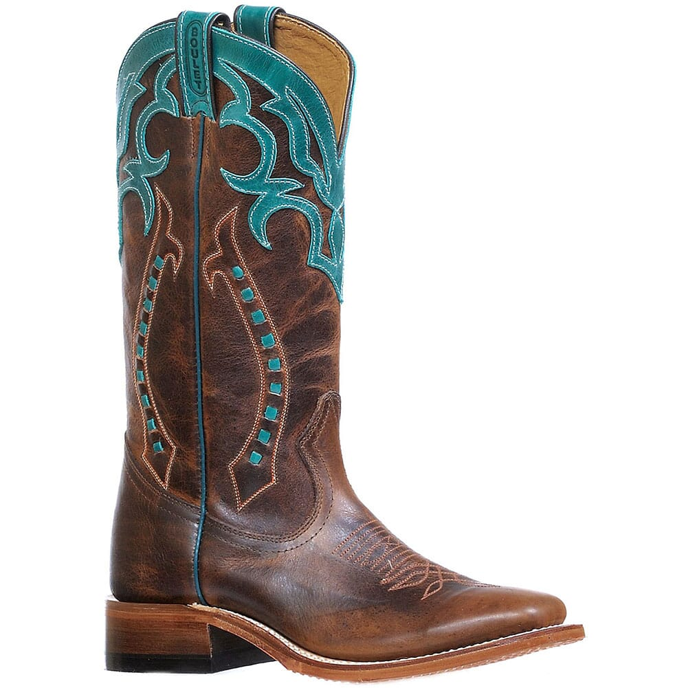 Image for Boulet Women's West Turqueza Western Boots - Brown from bootbay