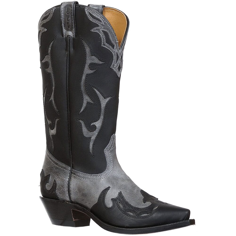 Image for Boulet Women's Grizzly Bear Western Boots - Black from elliottsboots