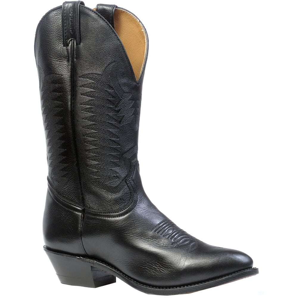Image for Boulet Men's Cowboy Toe Deer Tan Western Boots - Sporty Black from bootbay
