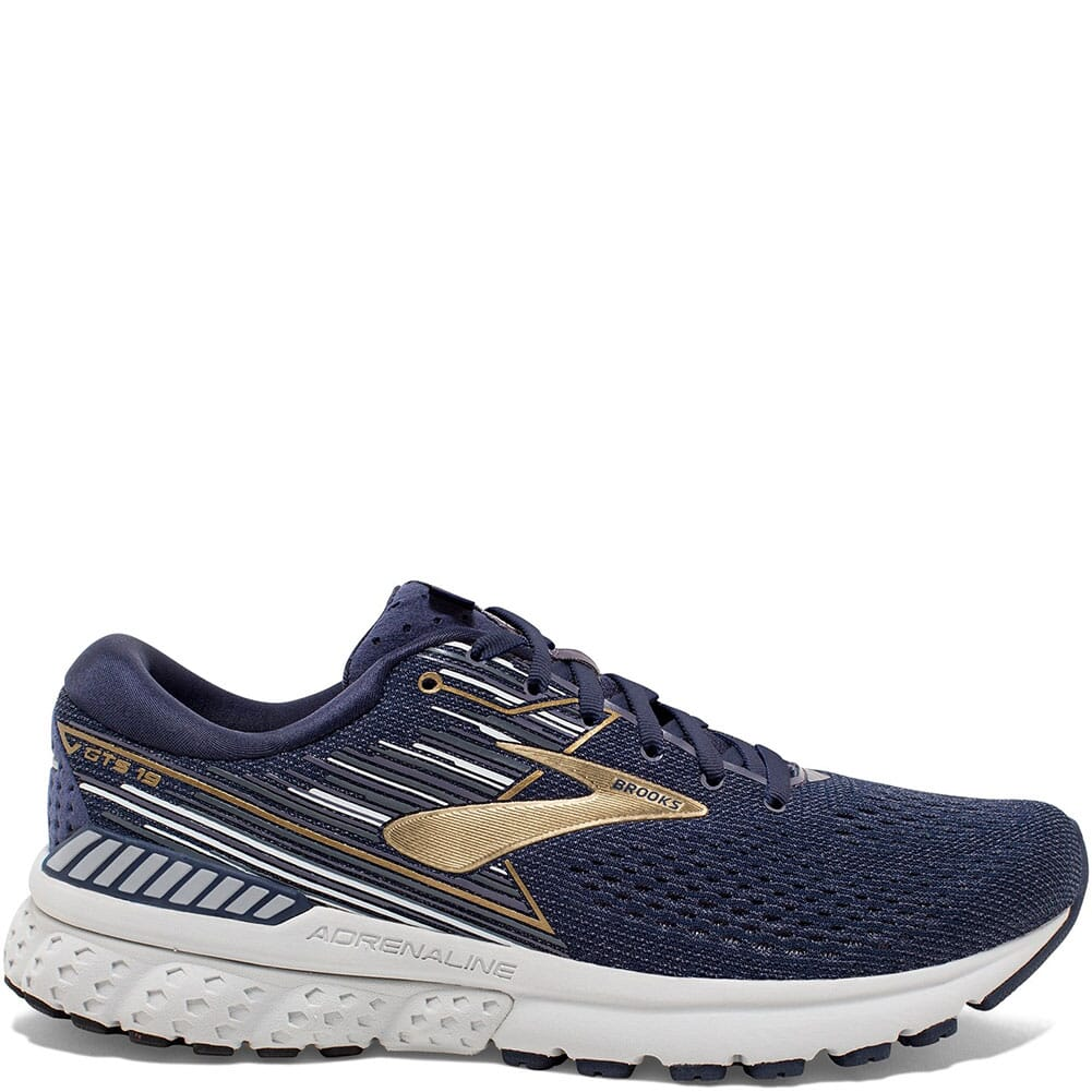 Image for Brooks Men's Adrenaline GTS 19 Athletic Shoes - Navy from bootbay