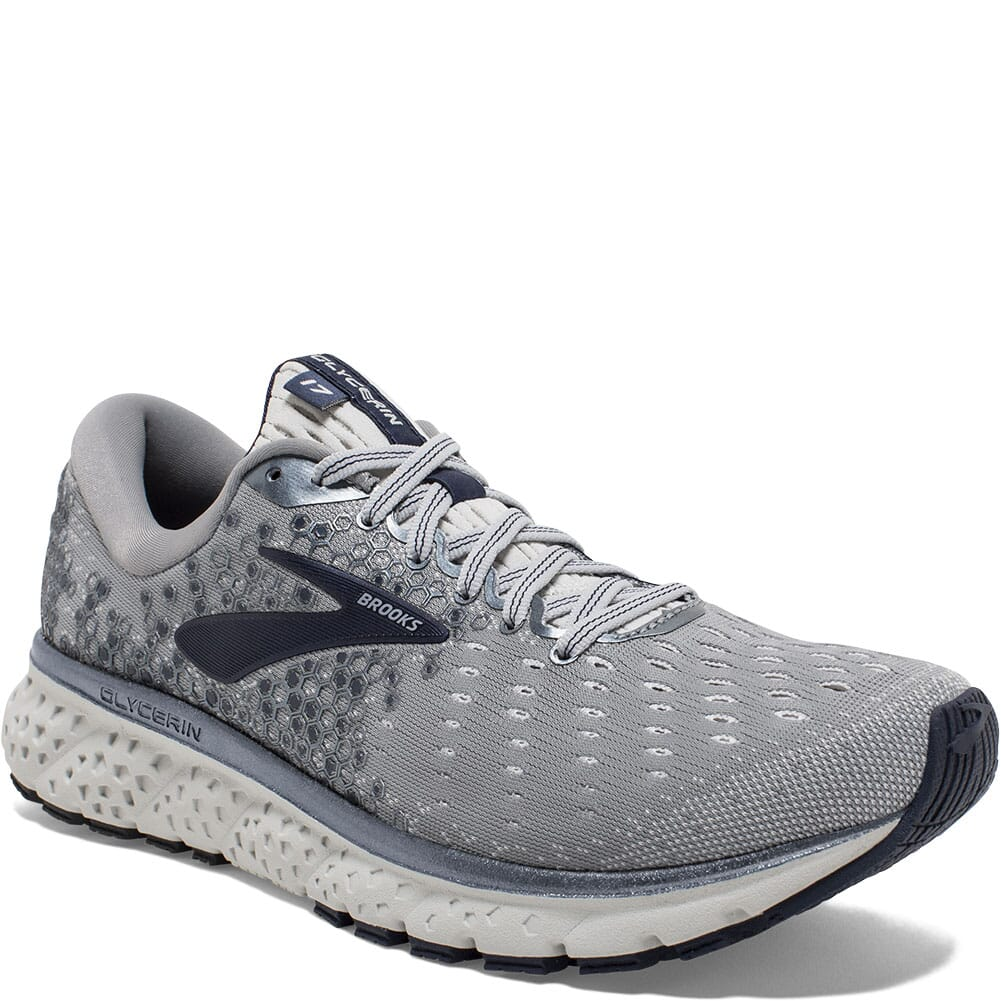 Image for Brooks Men's Glycerin 17 Road Running Shoes - Grey/Navy from bootbay