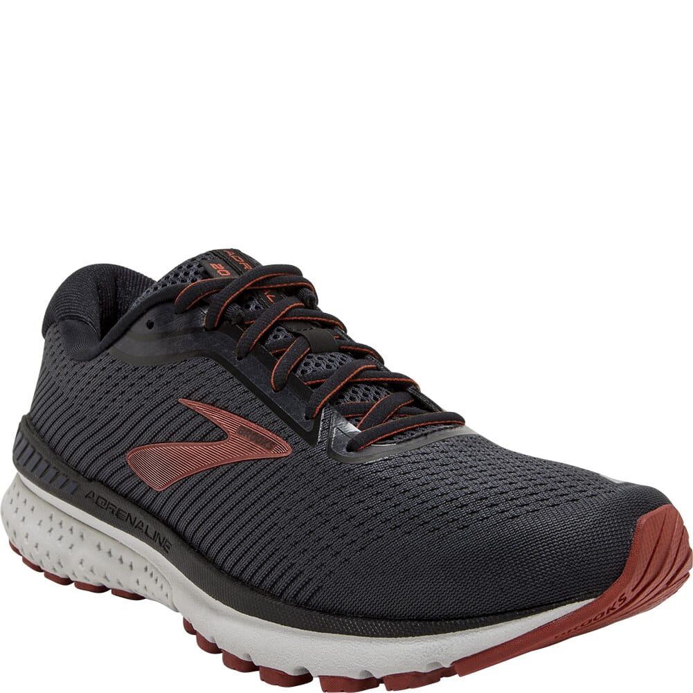 Image for Brooks Men's Adrenaline GTS 20 Athletic Shoes - Black/Ketchup from bootbay