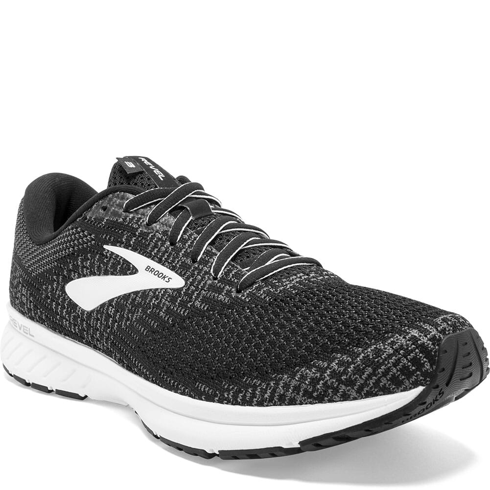 Image for Brooks Men's Revel 3 Road Running Shoes - Black from bootbay