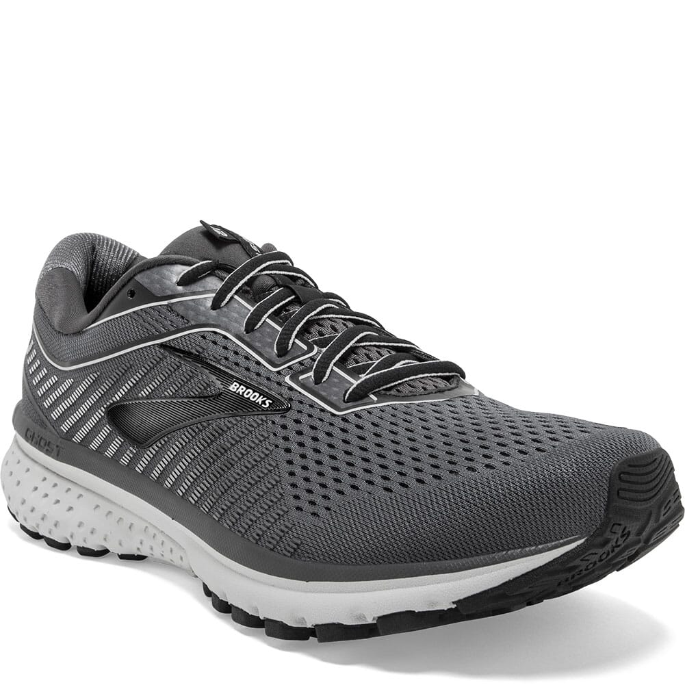 Image for Brooks Men's Ghost 12 Road Running Shoes - Black/Pearl from bootbay