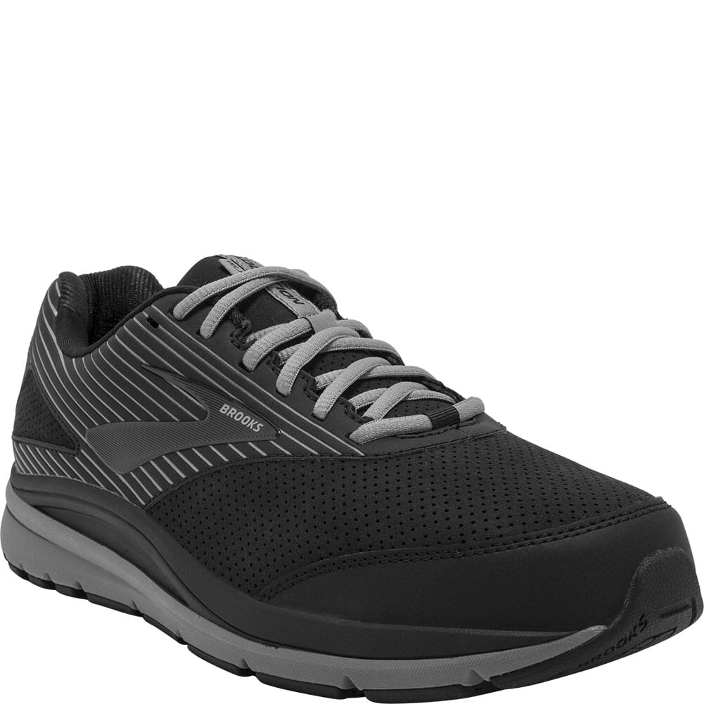 Image for Brooks Men's Addiction Walker Suede Athletic Shoes - Black/Primer from bootbay