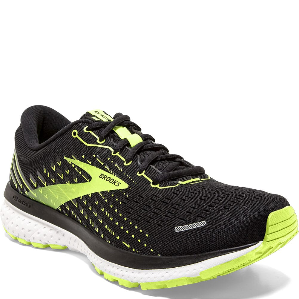 Image for Brooks Men's Ghost 13 Road Running Shoes - Black/Nightlife/White from bootbay