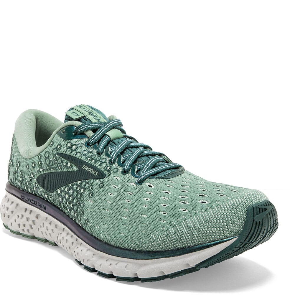 Image for Brooks Women's Glycerin 17 Road Running Shoes - Aqua Foam/Grey from elliottsboots