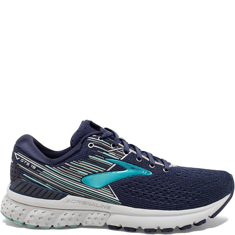 Image for Brooks Women's Adrenaline GTS 19 Athletic Shoes - Navy from bootbay