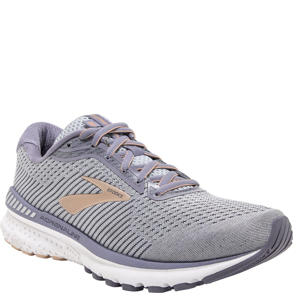 Image for Brooks Women's Adrenaline GTS 20 Athletic Shoes - Grey/Peach from bootbay