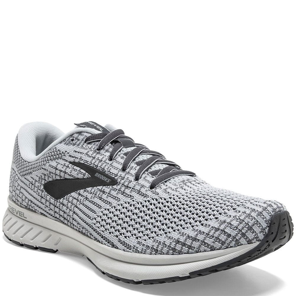 Image for Brooks Women's Revel 3 Road Running Shoes - White/Black from elliottsboots