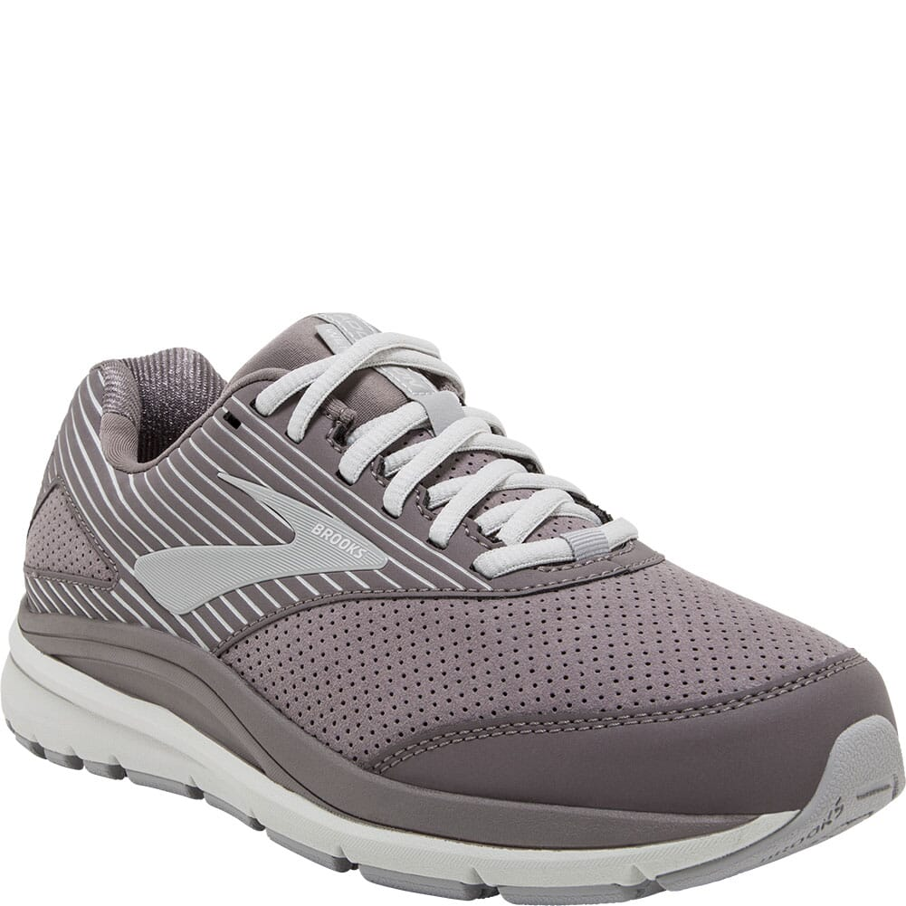 Image for Brooks Women's Addiction Walker Suede Athletic Shoes - Shark/Alloy from elliottsboots