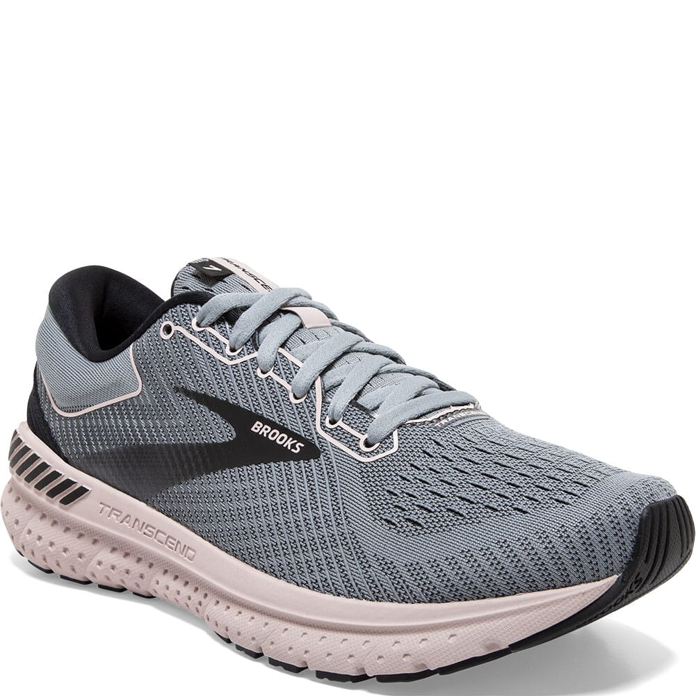 Image for Brooks Women's Transcend 7 Athletic Shoes - Grey/Black/Hushed Violet from elliottsboots