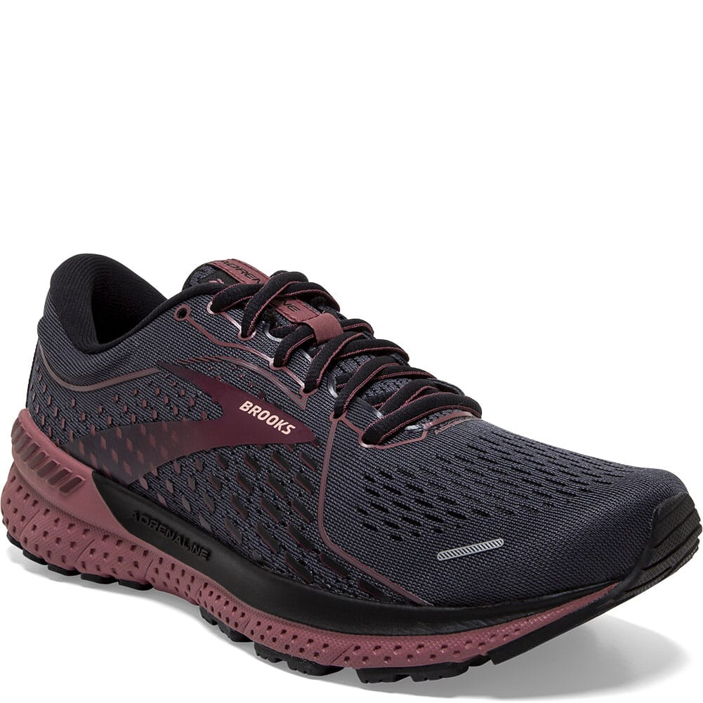 Image for Brooks Women's Adrenaline GTS 21 Running Shoes - Black/Blackened Pear from elliottsboots