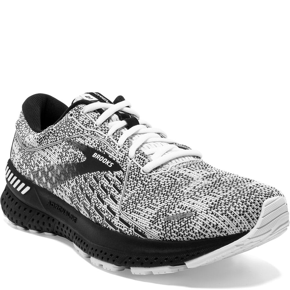 Image for Brooks Women's Adrenaline GTS 21 Running Shoes - White/Grey/Black from bootbay