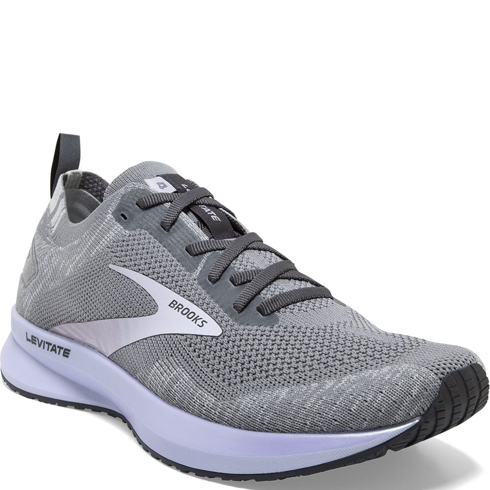 Image for Brooks Women's Levitate 4 Road Running Shoes - Grey/Blackened Pearl/P from bootbay