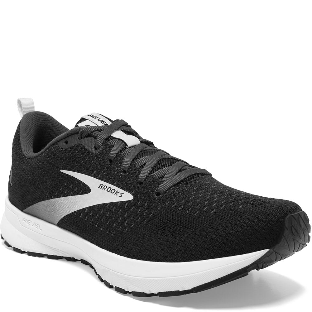 Image for Brooks Women's Revel 4 Running Shoes - Black/Oyster/Silver from elliottsboots