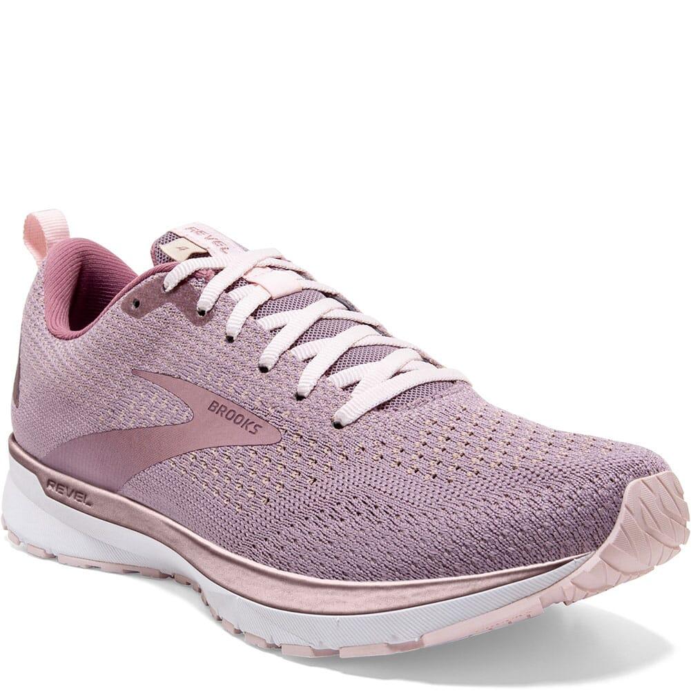 Image for Brooks Women's Revel 4 Running Shoes - Almond/Primrose from elliottsboots