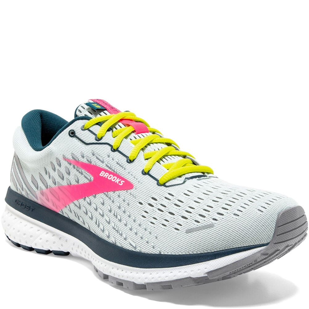 Image for Brooks Women's Ghost 13 Road Running Shoes - Ice Flow/Pink/Pond from elliottsboots