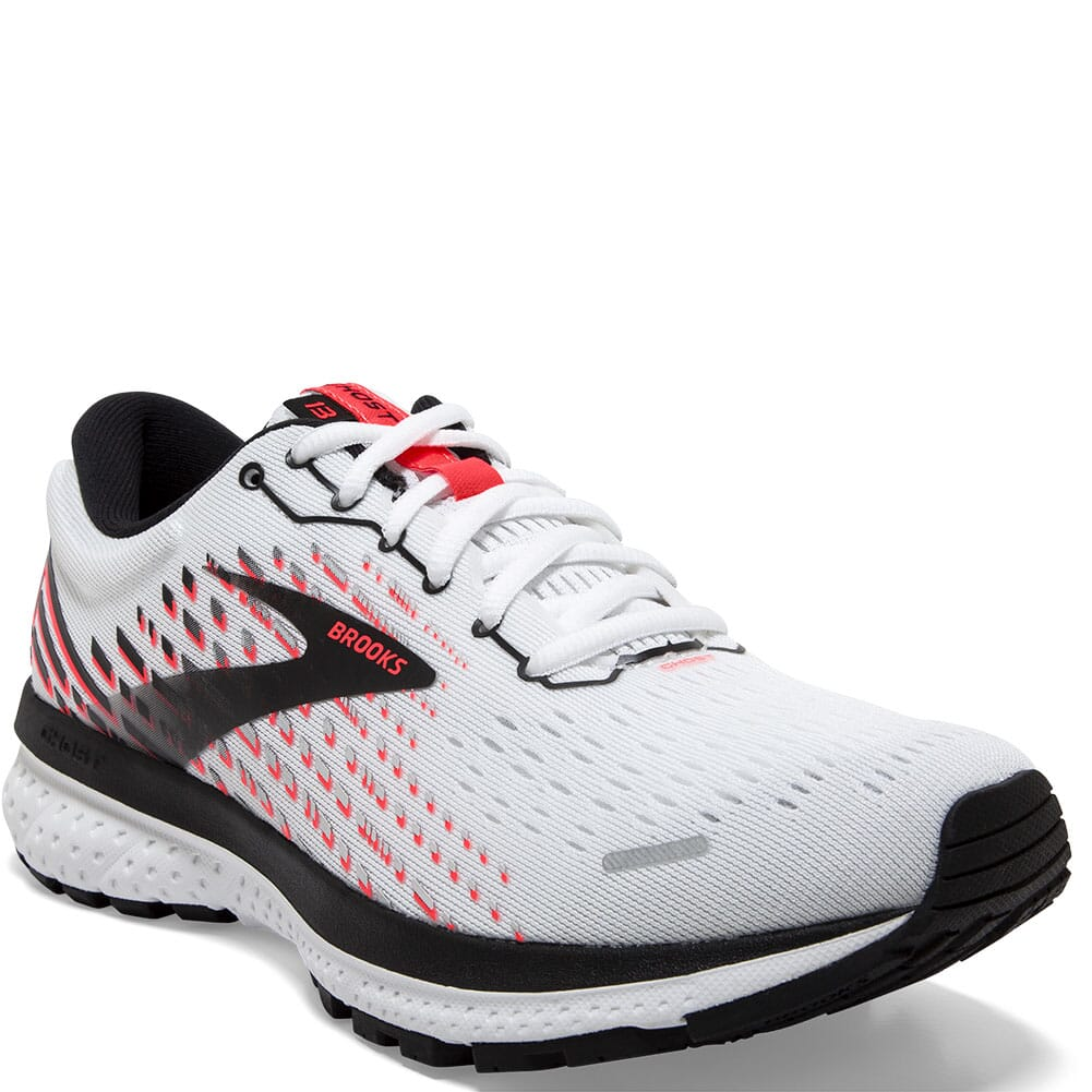 Image for Brooks Women's Ghost 13 Road Running Shoes - White/Pink/Black from bootbay