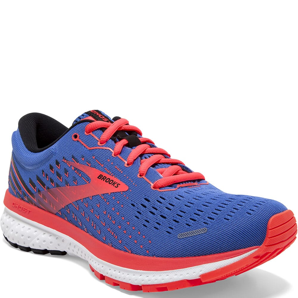 Image for Brooks Women's Ghost 13 Road Running Shoes - Blue/Coral/White from bootbay