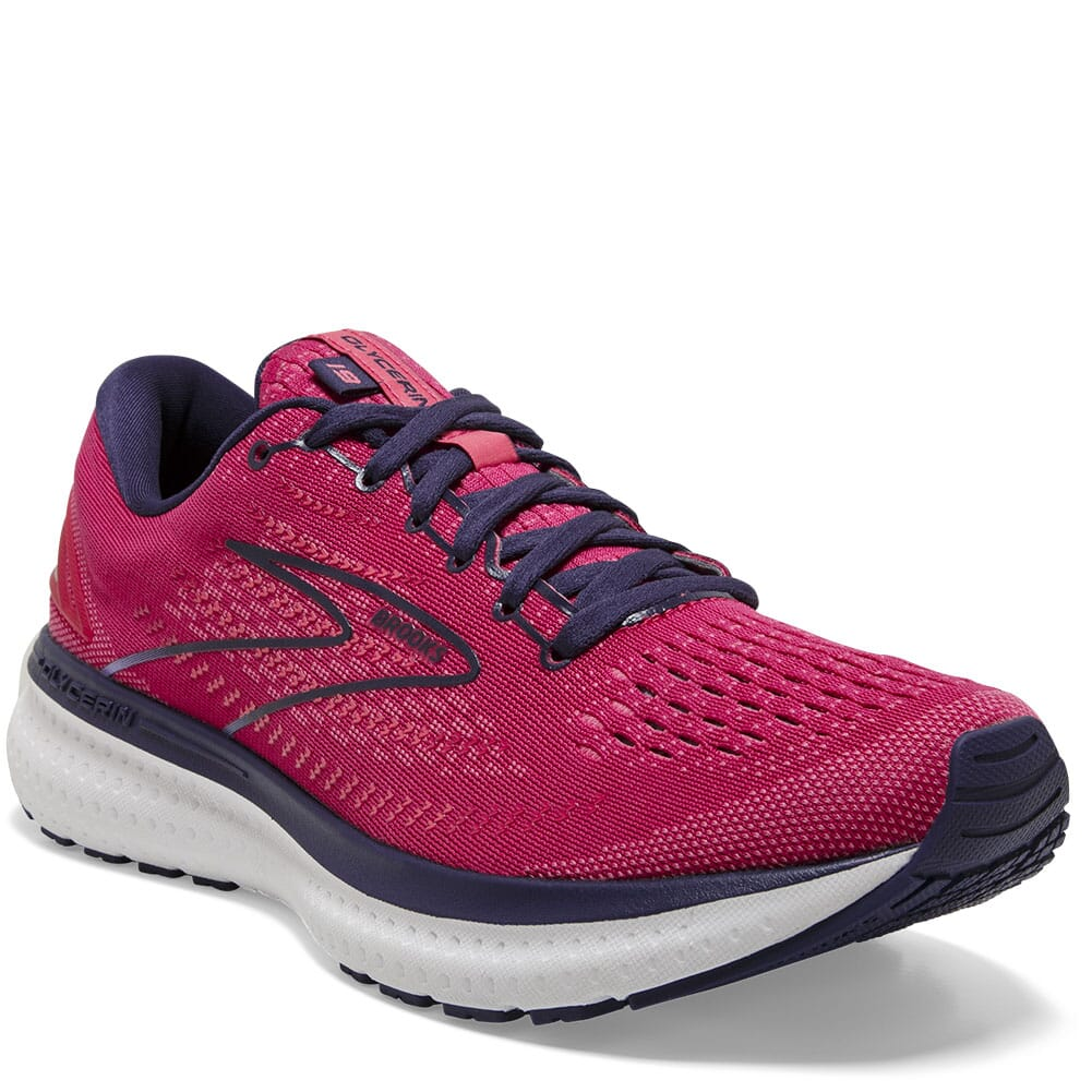 Image for Brooks Women's Glycerin 19 GTS Athletic Shoes - Barberry/Purple from bootbay