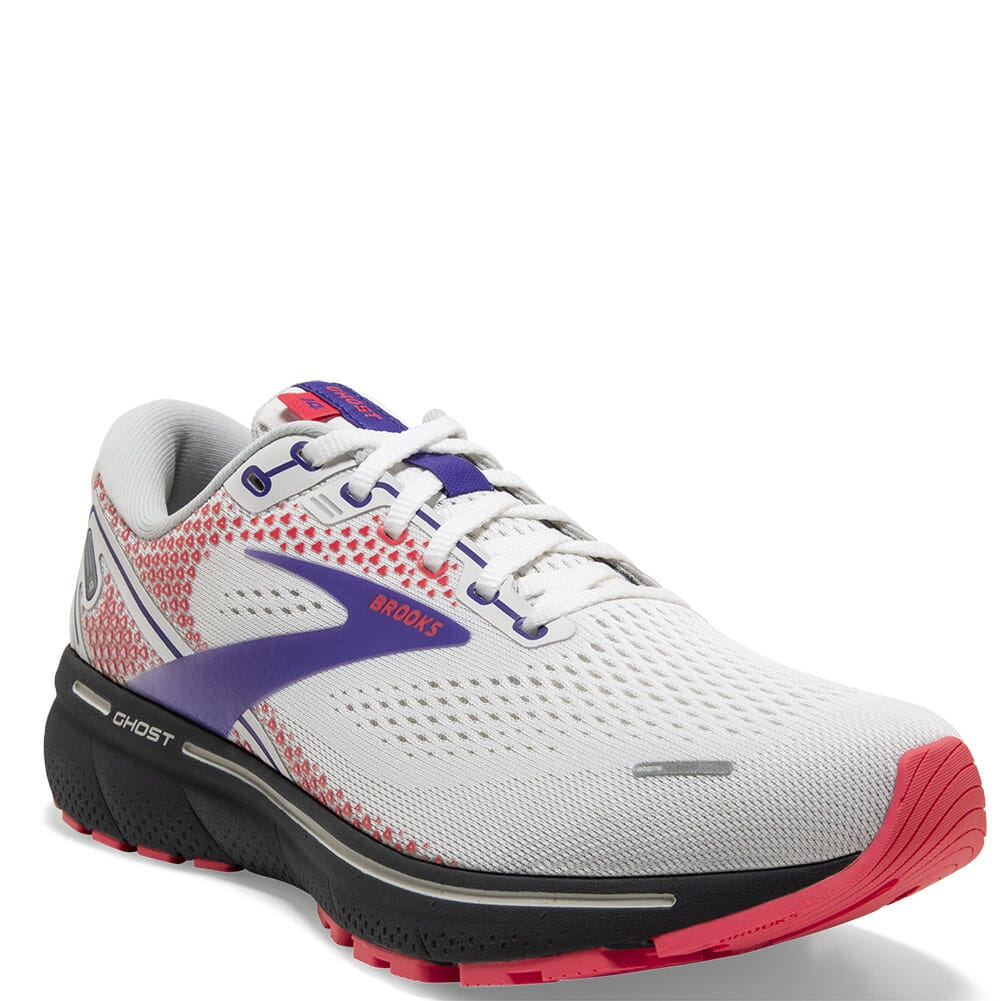 Image for Brooks Women's Ghost 14 Athletic Shoes - White/Purple from bootbay