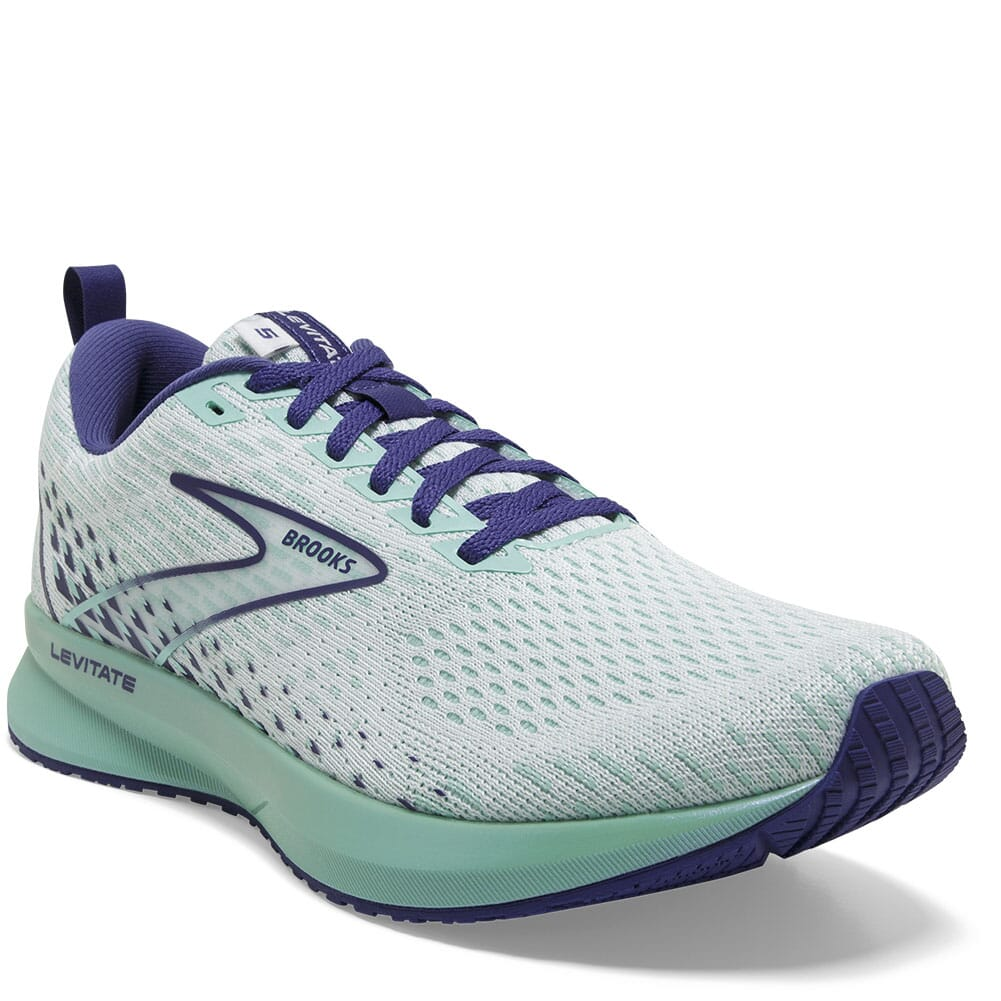 Image for Brooks Women's Levitate 5 Road Running Shoes - White/Navy Blue from bootbay