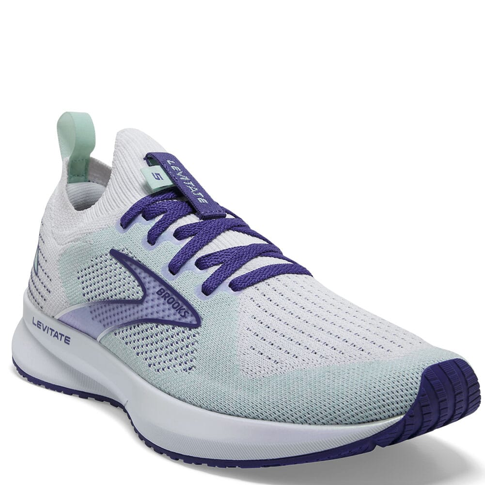 Image for Brooks Women's Levitate 5 Athletic Shoes - White/Navy Blue from elliottsboots