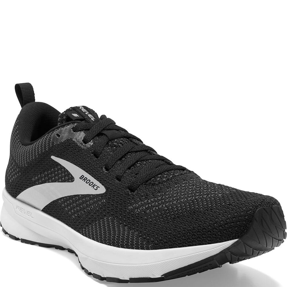 Image for Brooks Women's Revel 5 Road Running Shoes - Black/White from bootbay