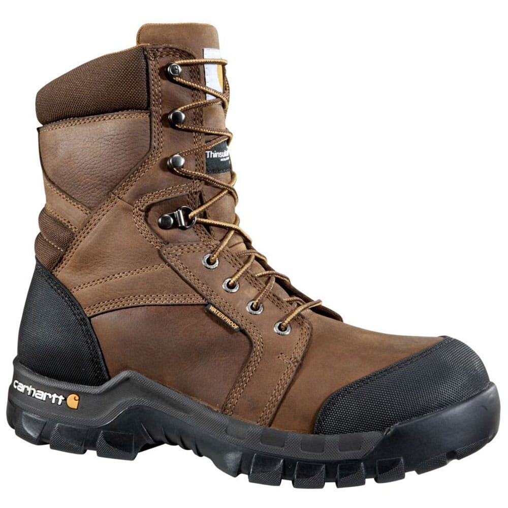 Image for Carhartt Men's Rugged WP 6IN Work Boots - Brown from bootbay