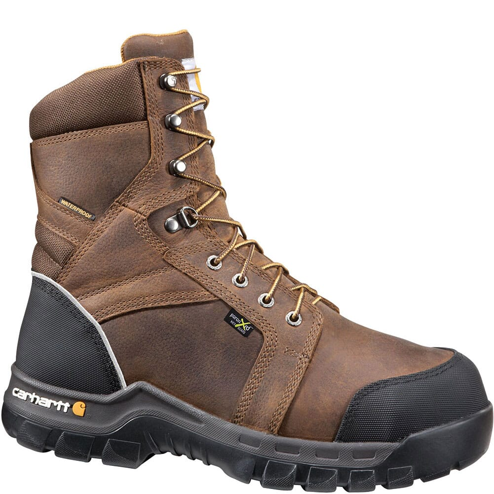 Image for Carhartt Men's Internal Met Guard Safety Boots - Carhartt Brown from bootbay