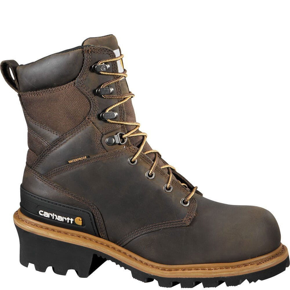 Image for Carhartt Men's LiteFire Safety Loggers - Brown from bootbay
