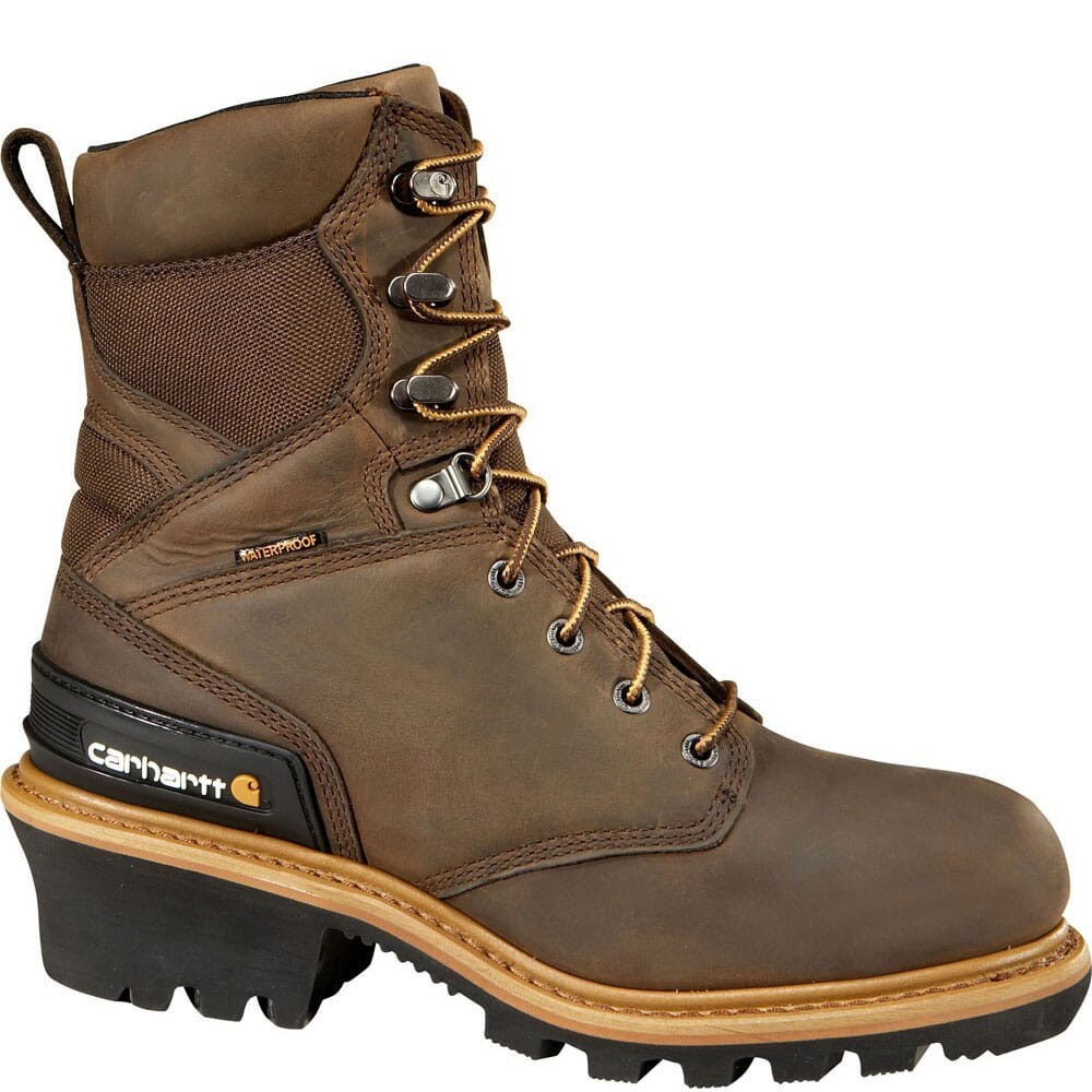 Image for Carhartt Men's WPF INS 8IN Safety Loggers - Crazy Horse from bootbay