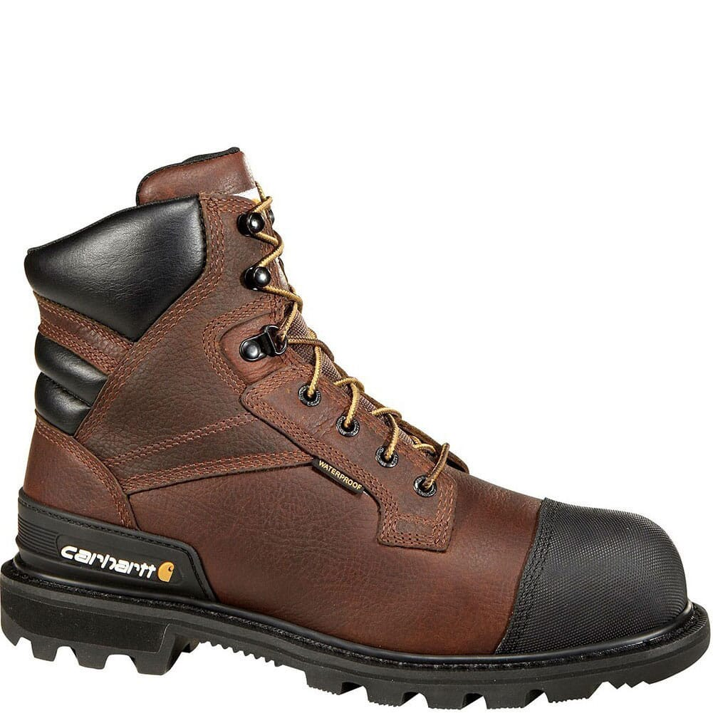 Image for Carhartt Men's CSA 6IN Safety Boots - Brown/Black from bootbay