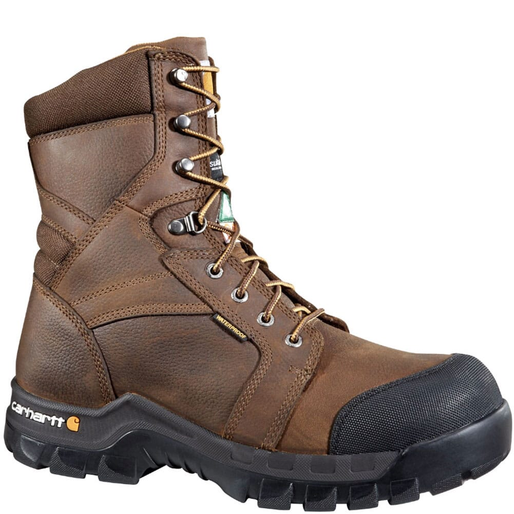Image for Carhartt Men's Insulated CSA Safety Boots - Brown from bootbay