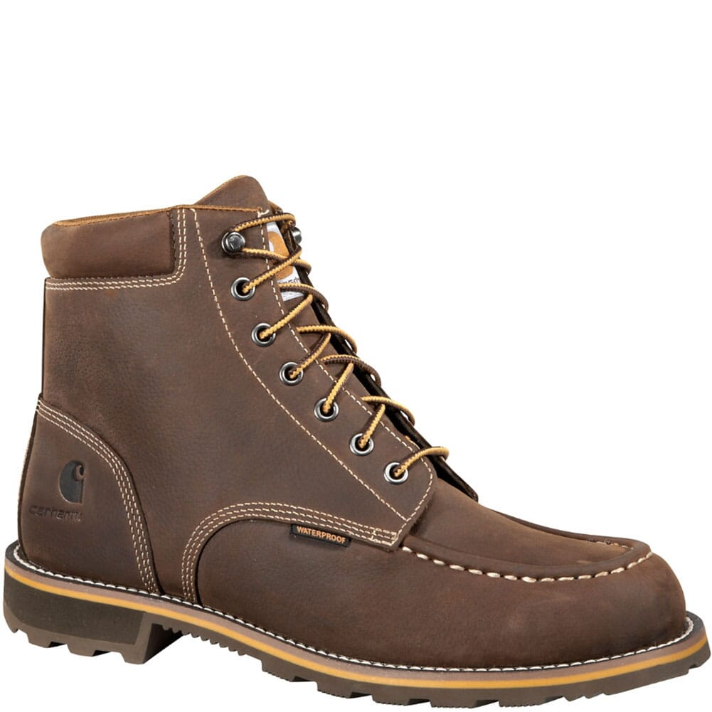 Image for Carhartt Men's Waterproof Safety Boots - Brown from bootbay