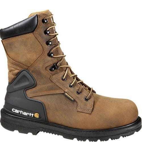 Image for Carhartt Men's 8IN WP SR Safety Boots - Brown from bootbay