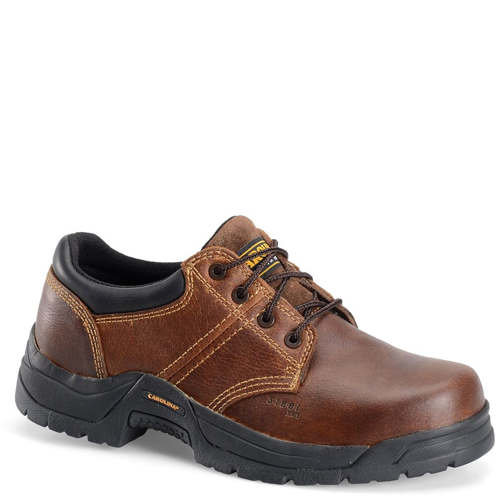 Image for Carolina Men's Broad Toe ESD Safety Oxford - Brown from bootbay