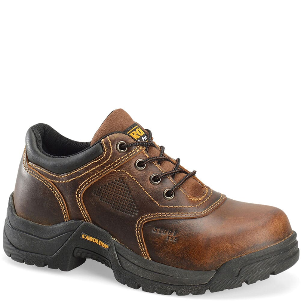 Image for Carolina Women's Broad Toe ESD Safety Oxford - Brown from bootbay