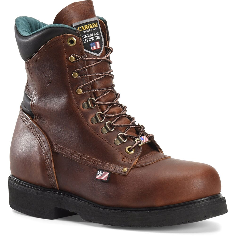Image for Carolina Men's Sarge Hi Safety Boots - Amber Gold from bootbay