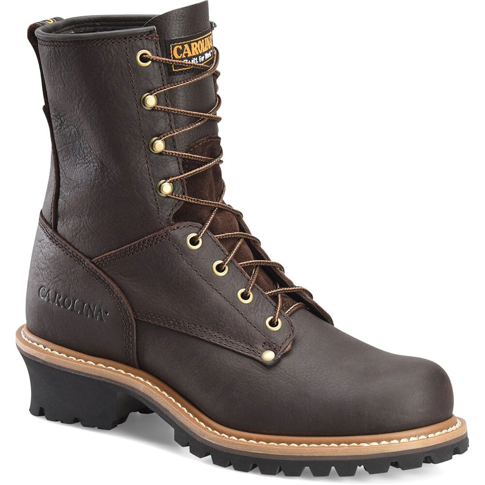 Image for Carolina Men's 8IN Safety Loggers - Soggy Brown from bootbay