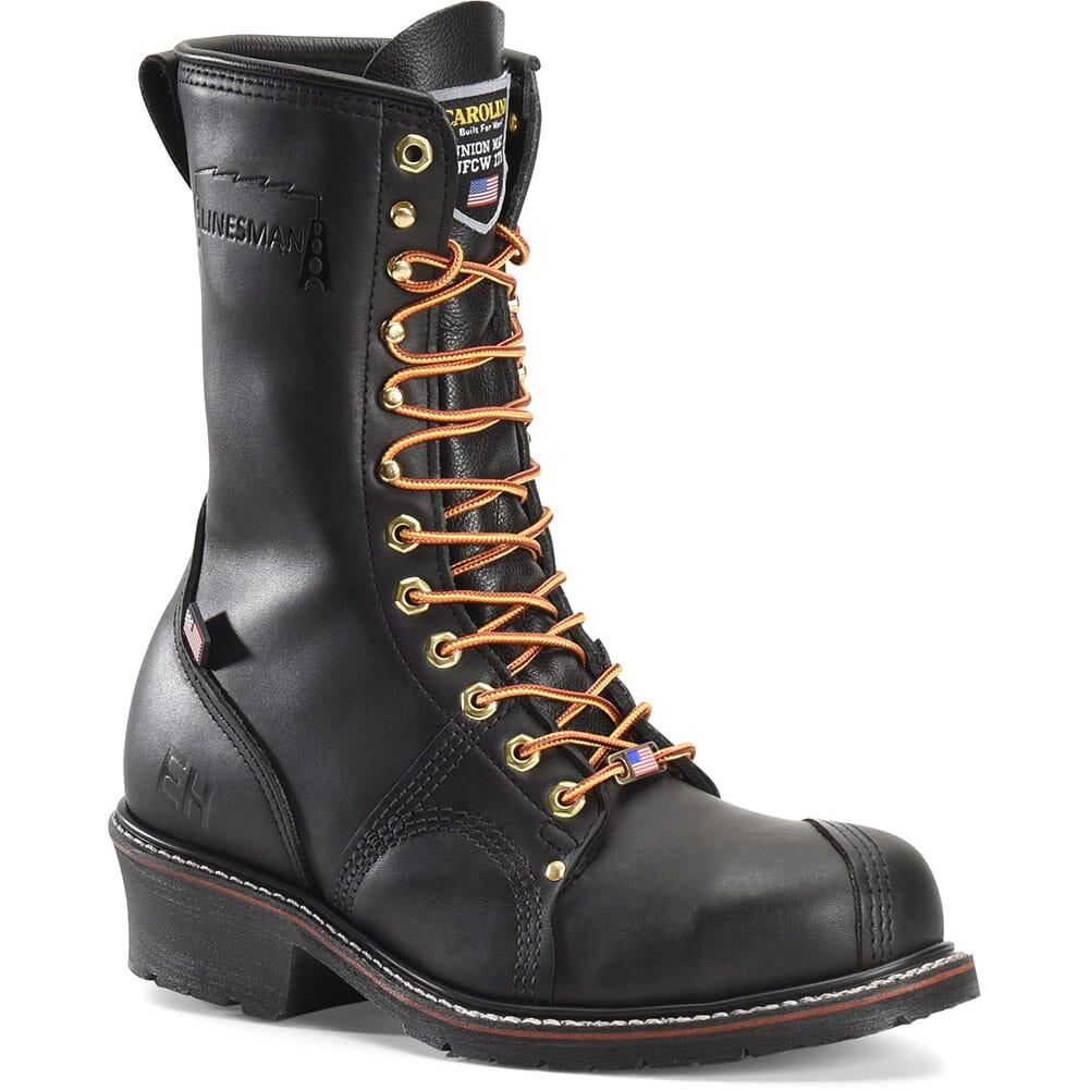 Image for Carolina Men's Linesman 10 Safety Boots - Black from bootbay